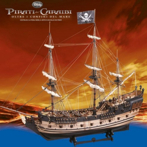 Teca Arca per la Pela Nera, il galeone dei pirati dei caraibi